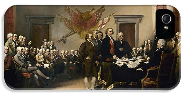 Signing The Declaration Of Independence IPhone 5 Case by War Is Hell Store