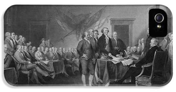 Continental iPhone 5 Cases - Signing The Declaration of Independence iPhone 5 Case by War Is Hell Store