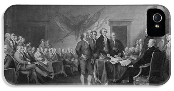 Thomas Jefferson iPhone 5 Case - Signing The Declaration Of Independence by War Is Hell Store