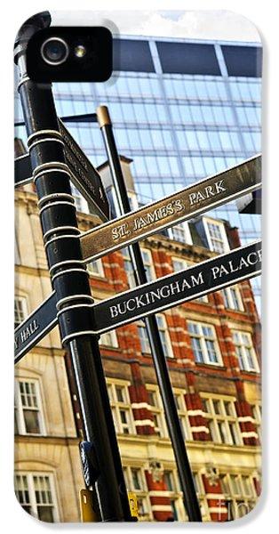 Signpost In London IPhone 5 Case by Elena Elisseeva