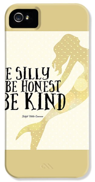 Silly Honest Kind Mermaid V4 IPhone 5 Case by Brandi Fitzgerald