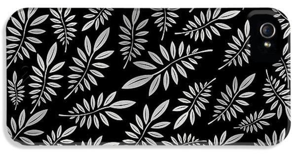 Silver Leaf Pattern 2 IPhone 5 Case by Stanley Wong