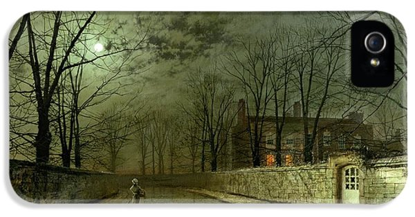 Silver Moonlight IPhone 5 Case by John Atkinson Grimshaw