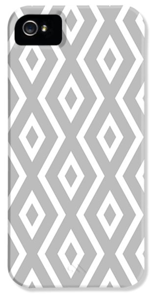Silver Pattern IPhone 5 Case by Christina Rollo