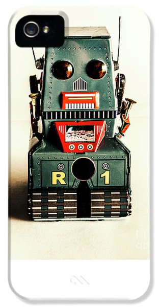Simple Robot From 1960 IPhone 5 Case by Jorgo Photography - Wall Art Gallery