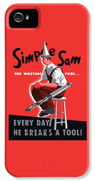 Simple Sam The Wasting Fool IPhone 5 Case