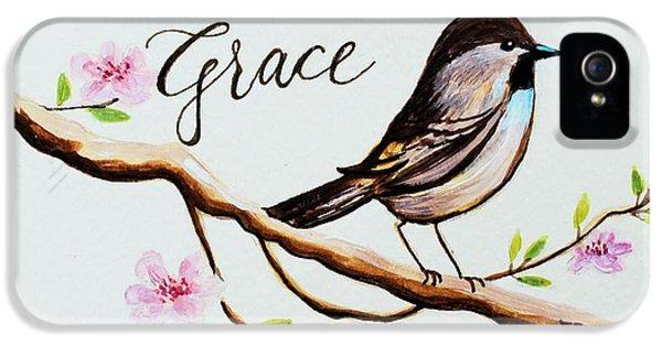 Garden iPhone 5 Case - Sing Grace by Elizabeth Robinette Tyndall