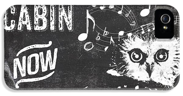 Singing Owl Cabin Rustic Sign IPhone 5 Case