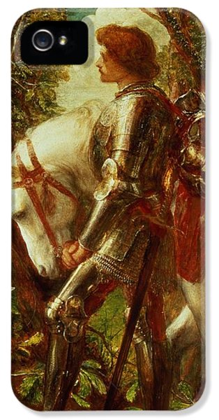 Knight iPhone 5 Case - Sir Galahad by George Frederic Watts