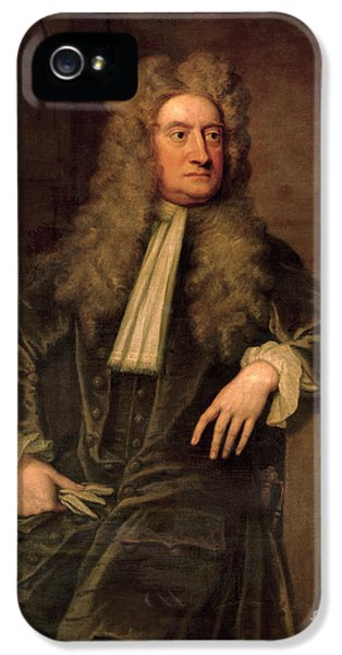 Sir Isaac Newton  IPhone 5 Case by Sir Godfrey Kneller