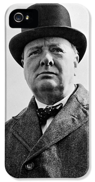 Sir Winston Churchill IPhone 5 Case by War Is Hell Store