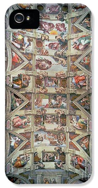 Sistine Chapel Ceiling IPhone 5 Case by Michelangelo