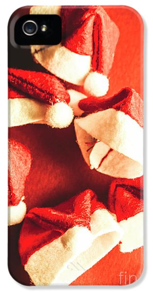 Six Santa Hats In Vintage Tone IPhone 5 Case by Jorgo Photography - Wall Art Gallery