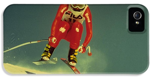 Skiing In Crans Montana IPhone 5 Case