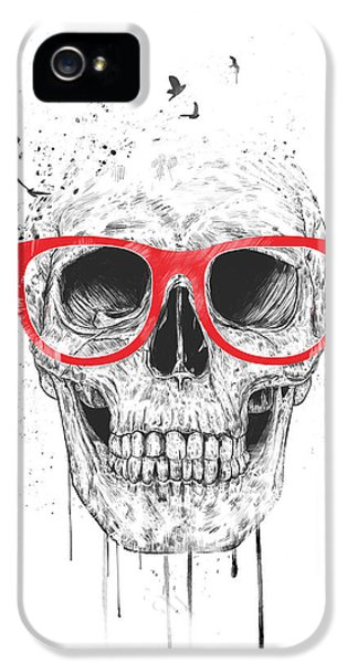 Skull With Red Glasses IPhone 5 Case by Balazs Solti