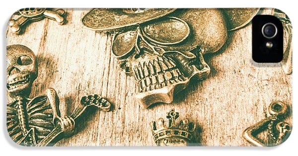 Pendant iPhone 5 Case - Skulls And Pieces by Jorgo Photography - Wall Art Gallery