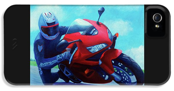 Sky Pilot - Honda Cbr600 IPhone 5 Case by Brian  Commerford