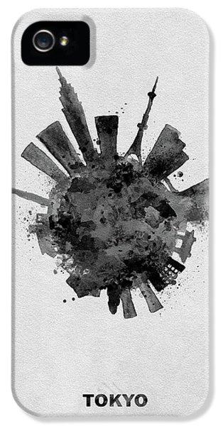 Tokyo Skyline iPhone 5 Case - Black Skyround / Skyline Art Of Tokyo, Japan by Inspirowl Design