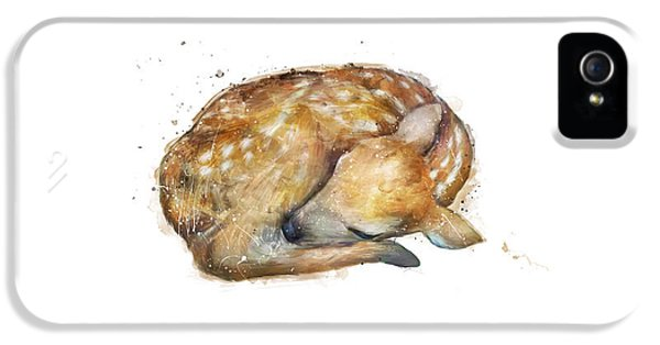 Sleeping Fawn IPhone 5 / 5s Case by Amy Hamilton