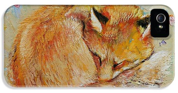 Sleeping Fox IPhone 5 Case by Michael Creese