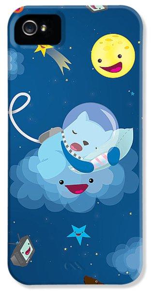 Sleepy In Space IPhone 5 Case by Seedys