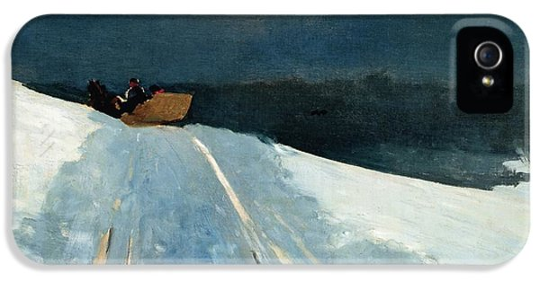 Sleigh Ride IPhone 5 Case by Winslow Homer