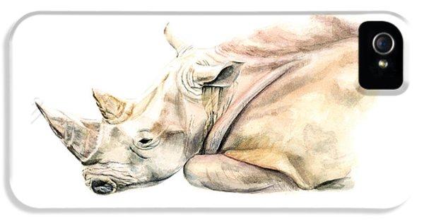 Small Colour Rhino IPhone 5 / 5s Case by Elizabeth Lock