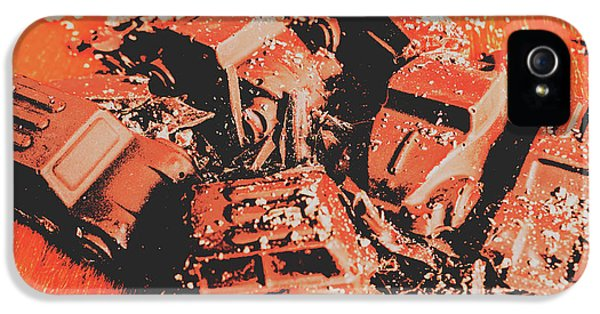 Truck iPhone 5 Case - Smashem Crashem Cars by Jorgo Photography - Wall Art Gallery