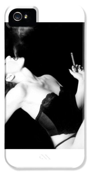 Smoke And Seduction - Self Portrait IPhone 5 / 5s Case by Jaeda DeWalt