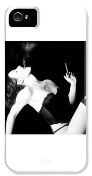 Smoke And Seduction - Self Portrait IPhone 5 Case