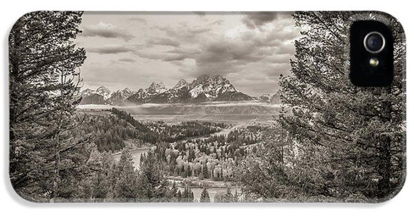 Snake River Overlook Grand Teton Monochromatic IPhone 5 Case
