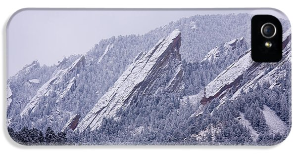 Snow Dusted Flatirons Boulder Colorado IPhone 5 Case