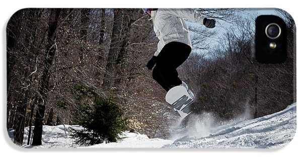 IPhone 5 Case featuring the photograph Snowboarding Mccauley Mountain by David Patterson