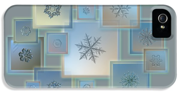 Snowflake Collage - Bright Crystals 2012-2014 IPhone 5 Case