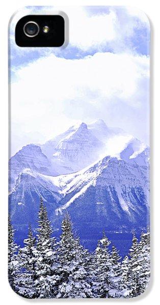 Mountain iPhone 5 Case - Snowy Mountain by Elena Elisseeva