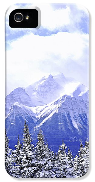 Mountain iPhone 5 Case - Snowy Mountain by Elena Elisseeva