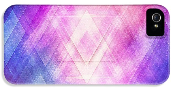 Soft Modern Fashion Pink Purple Bluetexture  Soft Light Glass Style   Triangle   Pattern Edit IPhone 5 Case