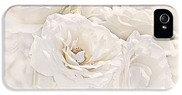 Softness Of Ivory Roses IPhone 5 Case by Jennie Marie Schell