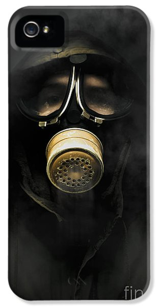 Breathe iPhone 5 Case - Soldier In Gas Mask by Jorgo Photography - Wall Art Gallery