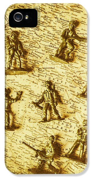 Soldiers And Battle Maps IPhone 5 Case by Jorgo Photography - Wall Art Gallery