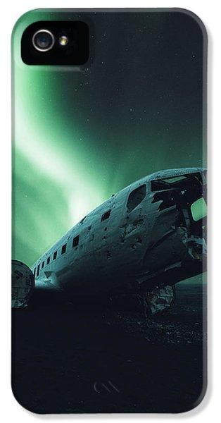 Airplane iPhone 5 Case - Solheimsandur Crash Site by Tor-Ivar Naess