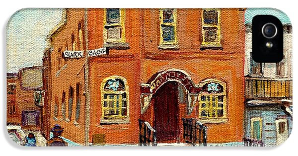 Solomons Temple Montreal Bagg Street Shul IPhone 5 Case