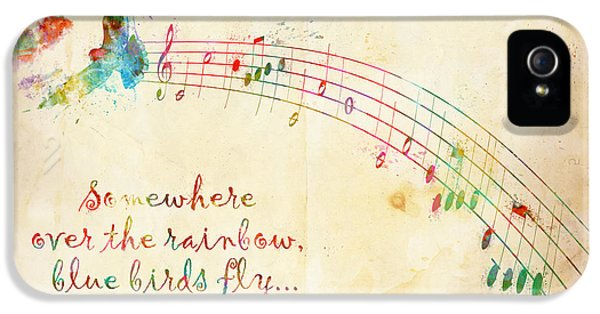 Wizard iPhone 5 Case - Somewhere Over The Rainbow by Nikki Smith