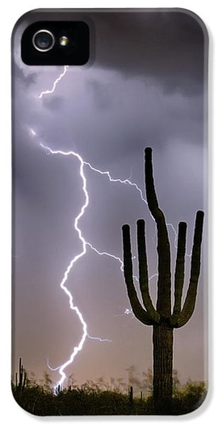 IPhone 5 Case featuring the photograph Sonoran Desert Monsoon Storming by James BO Insogna