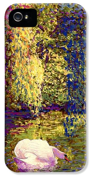 Impressionism iPhone 5 Case - Swans, Soul Mates by Jane Small