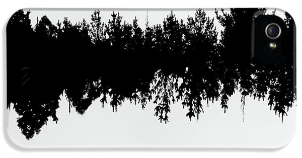 Sound Waves Made Of Trees Reflected IPhone 5 Case by Jorgo Photography - Wall Art Gallery