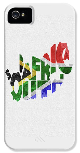 South Africa Typographic Map Flag IPhone 5 Case