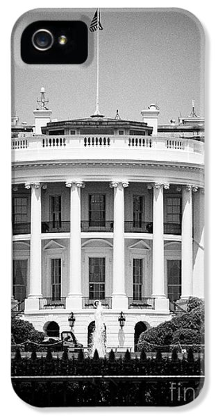 Whitehouse iPhone 5 Case - south facade of the white house Washington DC USA by Joe Fox