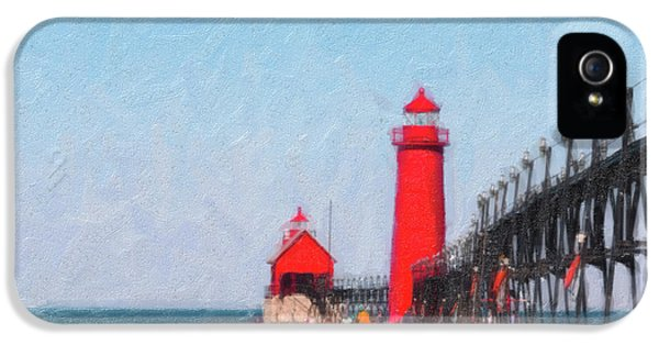 South Pier Of Grand Haven IPhone 5 Case by Tom Mc Nemar