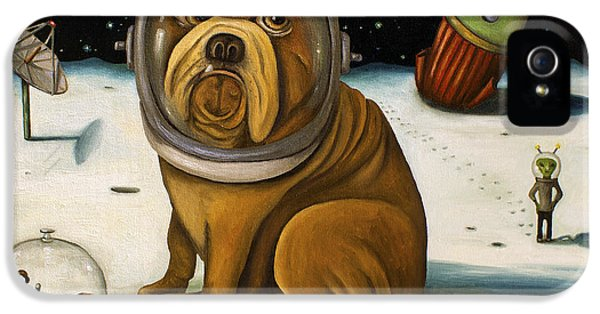 Dog iPhone 5 Case - Space Crash by Leah Saulnier The Painting Maniac